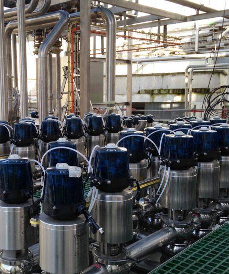 Câblage de vannes – Process laiterie
